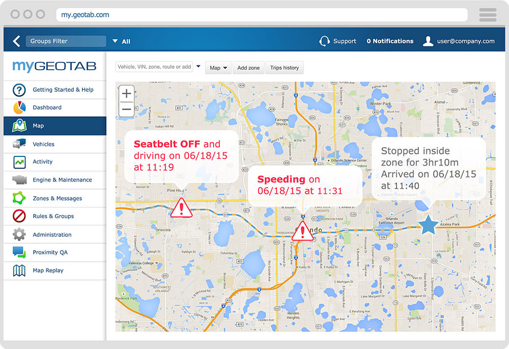 GPS Tracking software to record trips